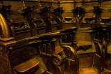 Cathedral seating.
