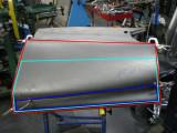 Rear quarter panel skin Red /rouge $400 light green/vert pale $300 Blue/bleu $175