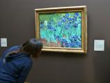 Jenn smelling a Van Gogh Iris