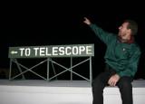 Well lit telescope sign