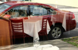 Red car with Chairs to match