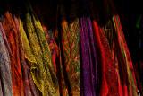 raindow of scarfs