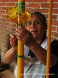Viviana completes a candle