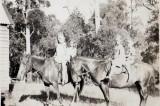 Dot, Irene, Ciss & Frank on horseback at Healesville 1930