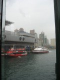 The red ferry is the hydrofoil to Macau. I took the ferry to Zhuhai.