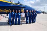 Photographer Jim Allen with Blue Angel Flight Crew after Flight In Fat Albert C-130