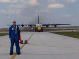 Blue Angels C-130 Fat Albert, Blue Angel pilot Lt. John Allison foreground