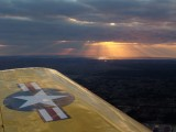 Sunset - From a T-34- US Air Force Trainer