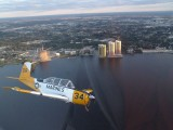 Formation Flying Over Ft. Myers FL.in T-34 _Trainer