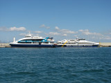 The Two New Competing Ferries Resting Together