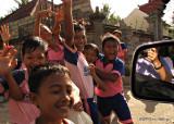 Kids walking home from school
