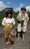 Balinese Cloth Vendor and Peter