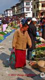 Colorful marketgoer