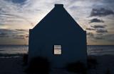 silhouette hut