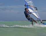 windsurfer blue