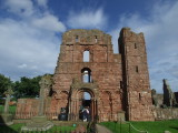 Lindisfarne Priory,the remains.