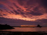 Dawn over Lindisfarne.