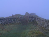 Hadrian's Wall in mist ,before the sunrise
