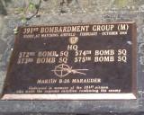 391st. Bomb. Group (M) ,commemmorative plaque.