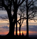 Sunset  from  Oliver's  Castle  hillfort. / 1