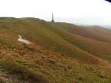 The Cherhill  White  Horse and Monument.