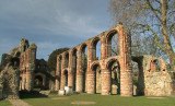 St. Botolph's  Priory  remains.