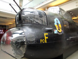 WW2  Lancaster  bomber, front  section  of  fuselage.