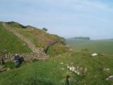 Hadrian's  Wall  on  Peel  Crags , looking west.