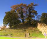 Tonbridge  Castle, the  Motte.