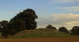 Castle  Toll, the  motte, looking  East.
