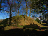 Annan  Castle, the  motte; the  home  of  Robert  The  Bruce.