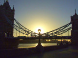Sunrise at Tower Bridge.