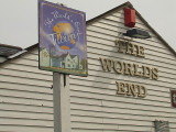The signs for The World's End pub,Tilbury.