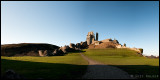 Corfe Castle, pano