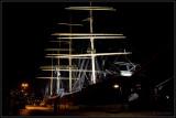 Old ship in the dark