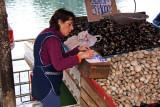 Vendedora de mariscos