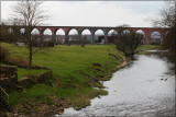 Whalley Viaduct and the River Calder