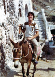 On a donkey somewhere in Greece the summer I backpacked all over Europe