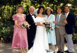 1987: Family photo of my sister Melissa's wedding. From left to right: sister Maureen, my father, sister Melissa, my mother, me, brother Michael