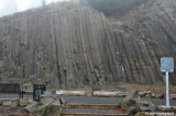 Natural rock climbing wall