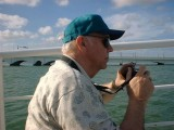 Vern on a cruise around Biscayne Bay in Miami, 2002