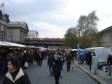 a street market on the Spree River