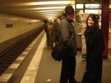 in the U-bahn (underground tram)