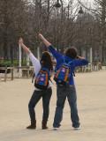 Students in Jardin des Tuileries