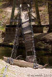 Suspension bridge destroyed - at 3 years later