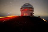Gemini North Observatory and star trails