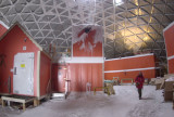 Inside the geodesic dome, Amundsen Scott South Pole Station