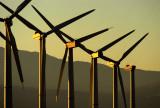 Wind turbines, Palm Springs, California