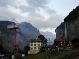 Lauterbrunnen, Switzerland, in the evening