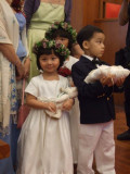 Flower girl and boy